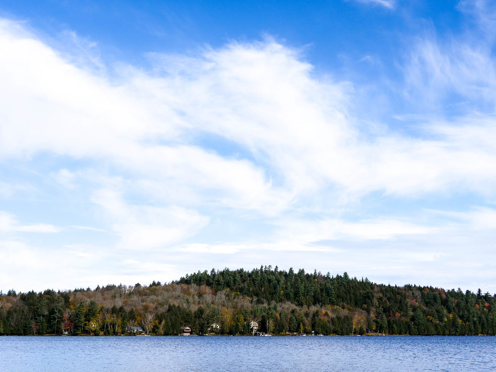 Raquette Lake on a beautiful October afternoon.