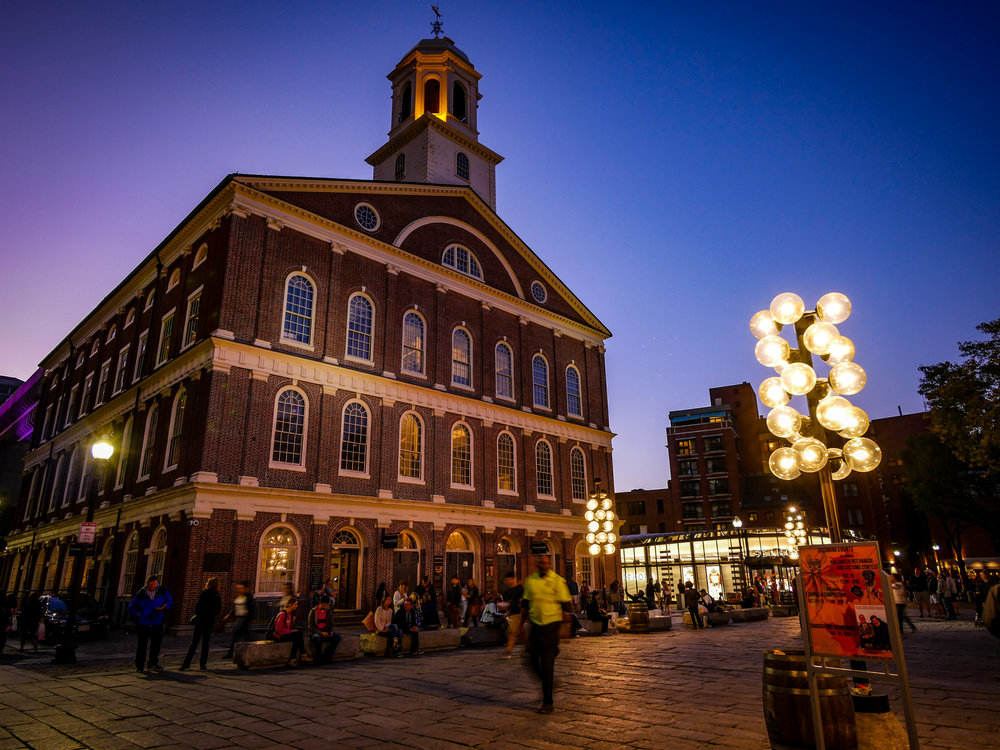 Faneuil Hall Marketplace in Boston.