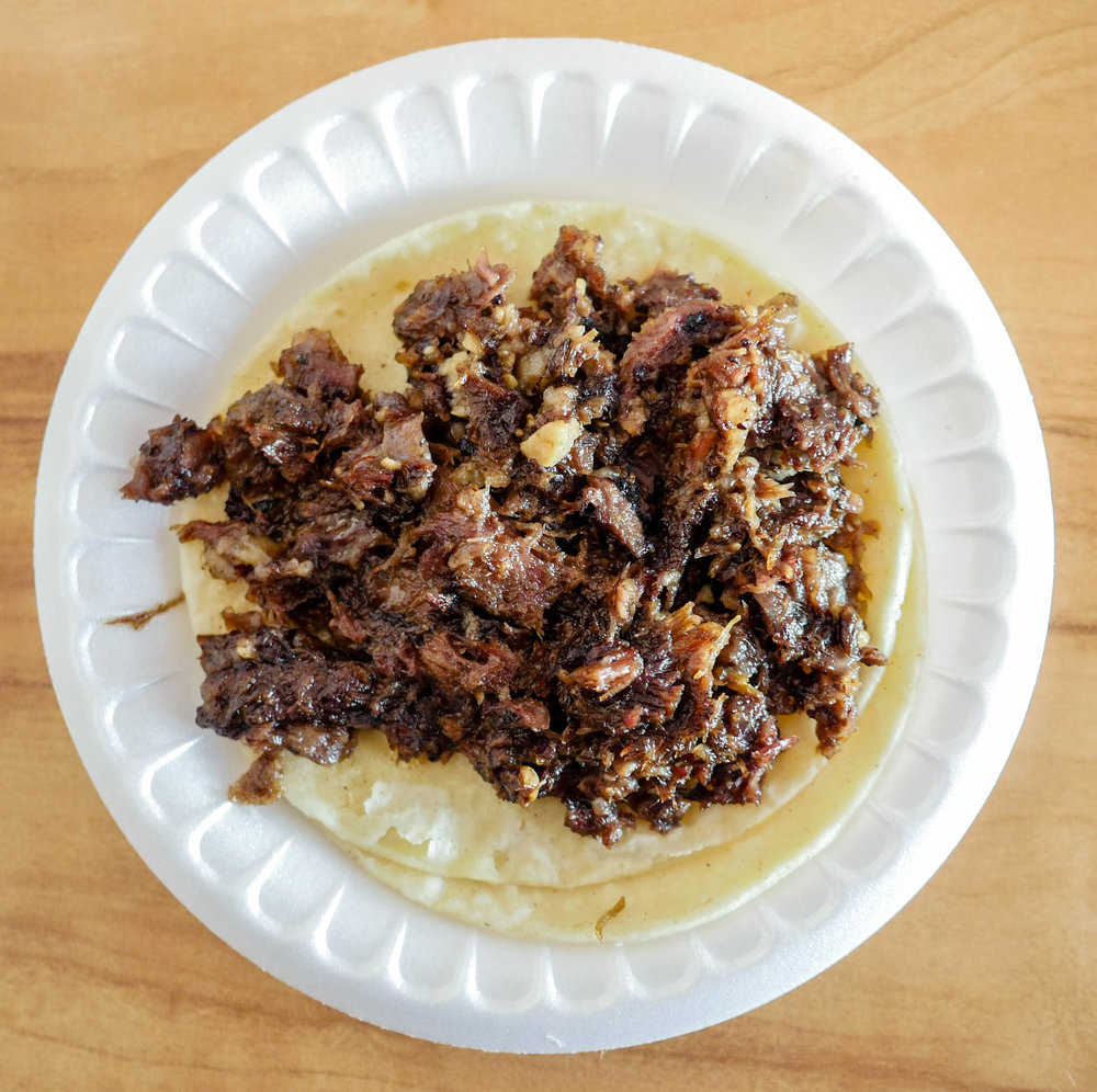 Cachete taco from Lilly's Taqueria