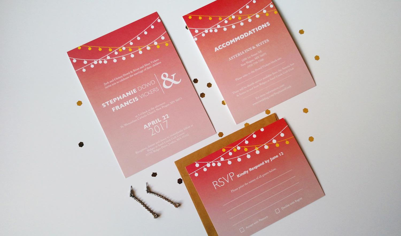 Modern Rustic Wedding Invitation Set - Custom Colors — Merro Design Co.