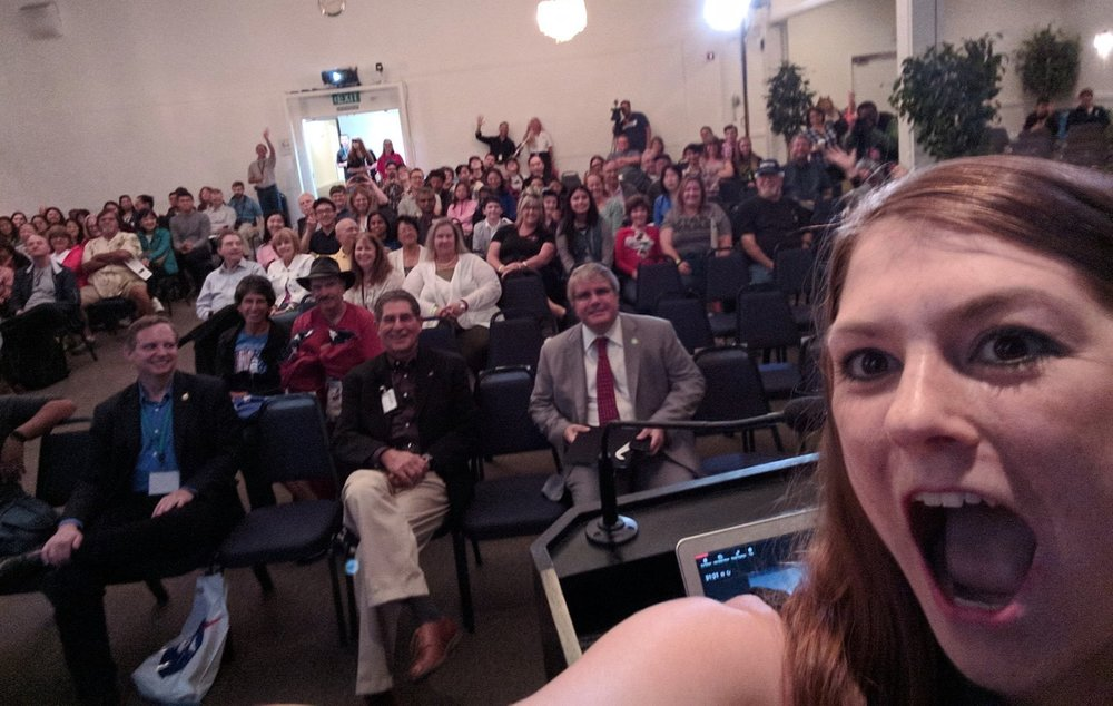 NASA Ames Total Solar Eclipse Talk-Audience Selfie