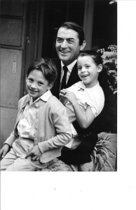 Cecilia, Anthony and Gregory Peck
