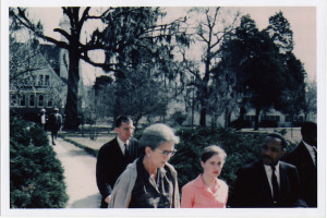 16 (joan_and_king) 1962 - Joan escorting Dr. Martin Luther King around Tougaloo College campus
