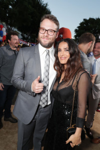 "Seth Rogen and Salma Hayek seen at Columbia Pictures and AnnaPurna World Premiere of ""Sausage Party"" on Tuesday, August 9, 2016, in Los Angeles."