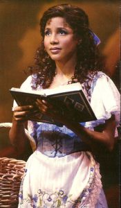 Toni Braxton as Belle on broadway in beauty and the beast