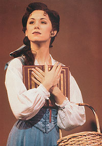 Susan egan as belle in broadway's beauty and the beast