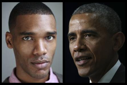 Parker Sawyer and Barack Obama