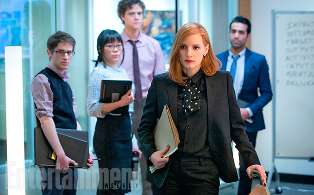 Jessica Chastain as Miss Sloane