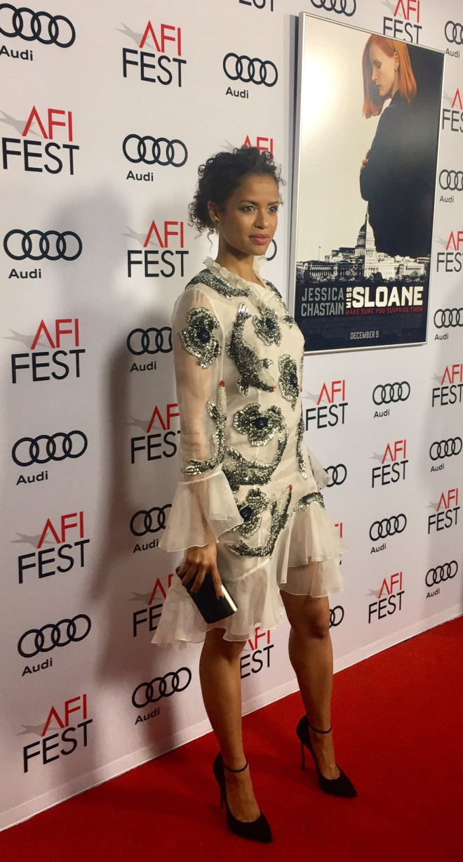 Gugu Mbatha-Raw at AFI Red Carpet for Miss Sloane