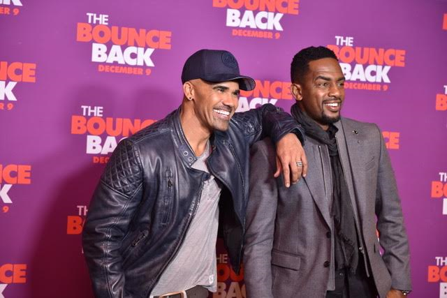 Shear Moore and Bill Bellamy at The Bounce Back Premiere