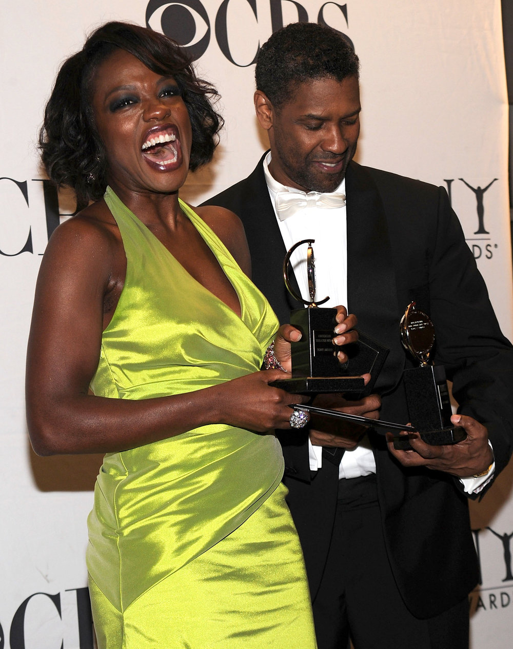 "Viola Davis and Denzel Washington Tony Award Winners for August Wilson's ""Fences"""