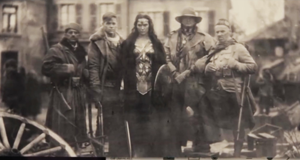 Wonder Woman ( Gal Godot) and her heroic crew.
