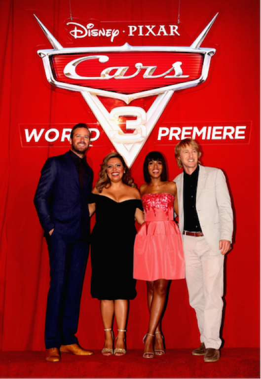 Cast of Cars 3 - Armie Hammer, Cristela Alonzo, Kerry Washington and Owen Wilson