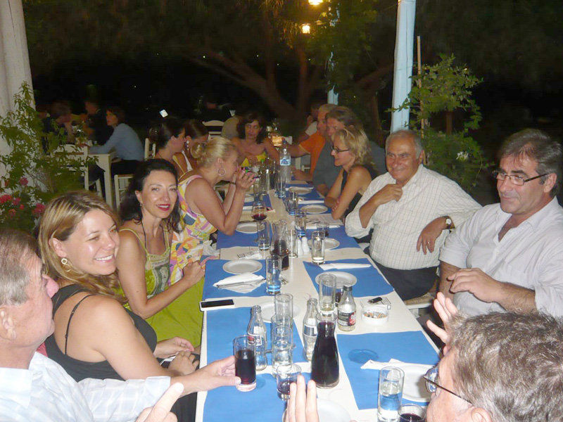 Dinner in honor of the Fasseas by Pholozoike of Amorgos
