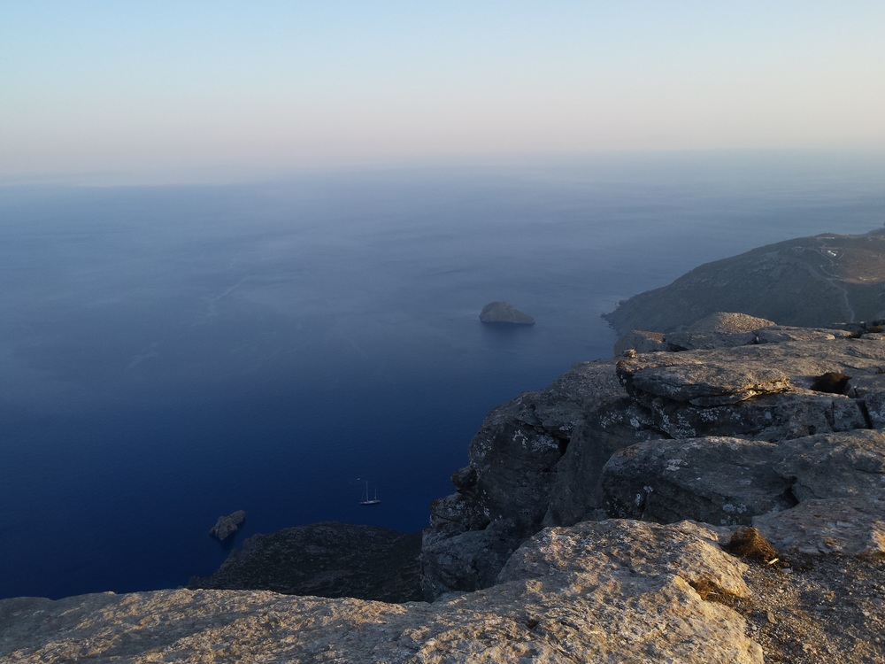 View over the water from Amorgos