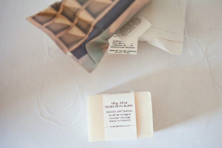 Cousu de Fil Blanc soap, from  Spartan