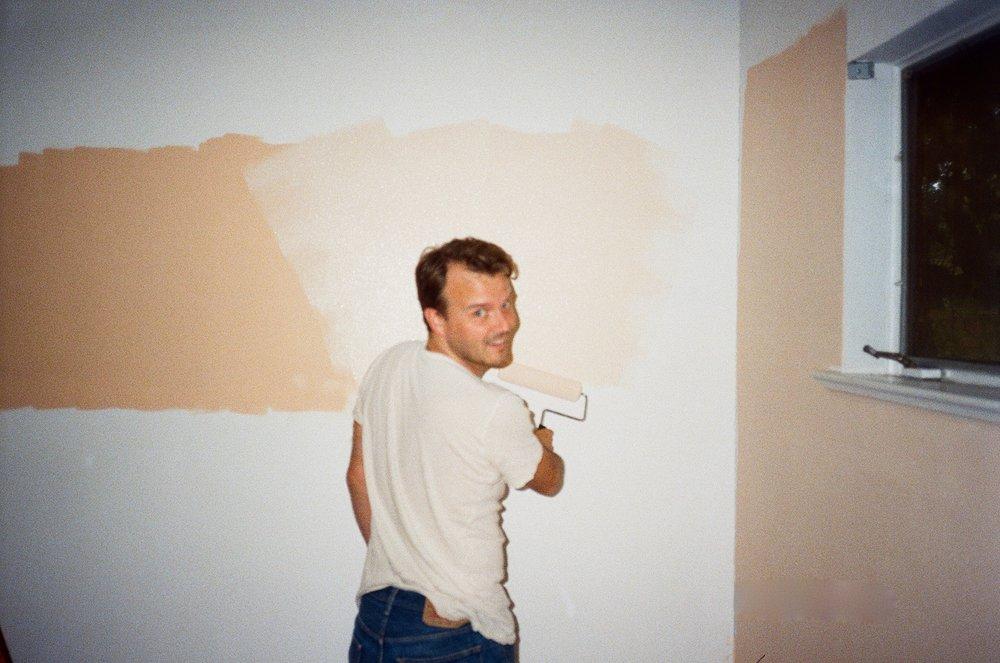 ben painting sage's room