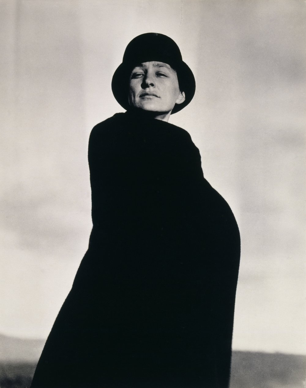 A portrait of Georgia O'Keeffe by Alfred Stieglitz