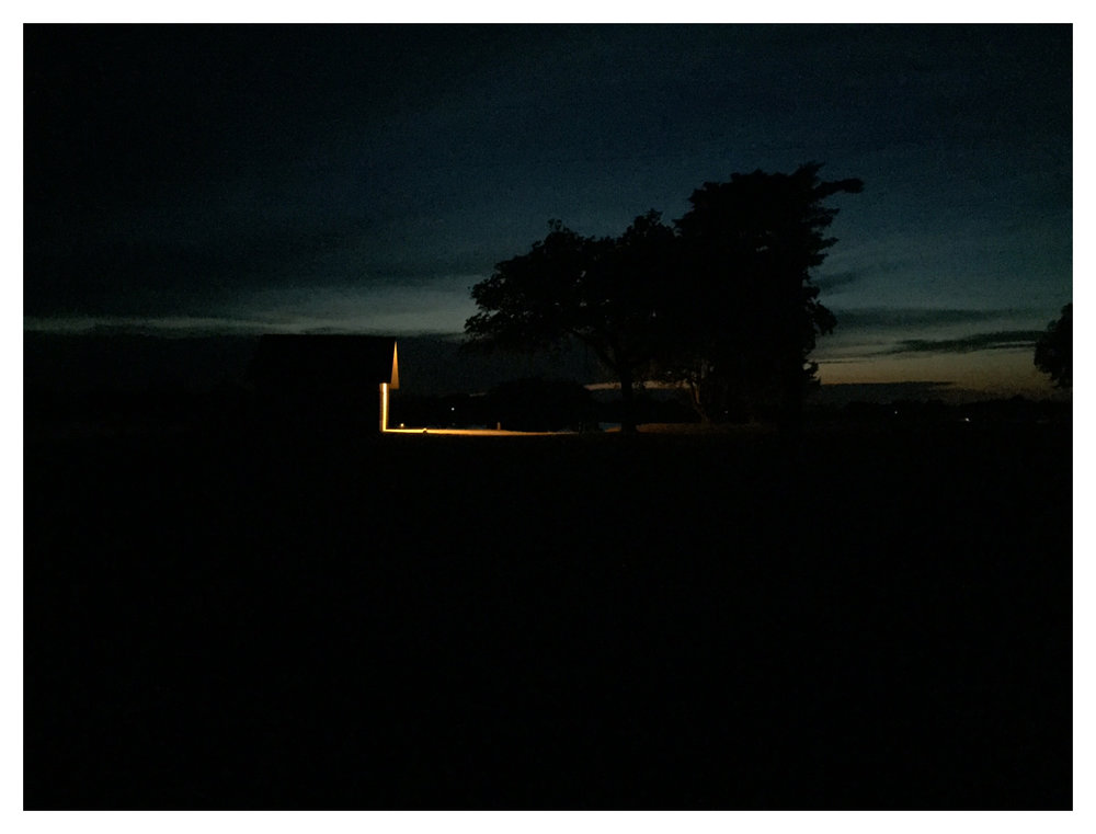 Darkness at a campsite in Lake Afton