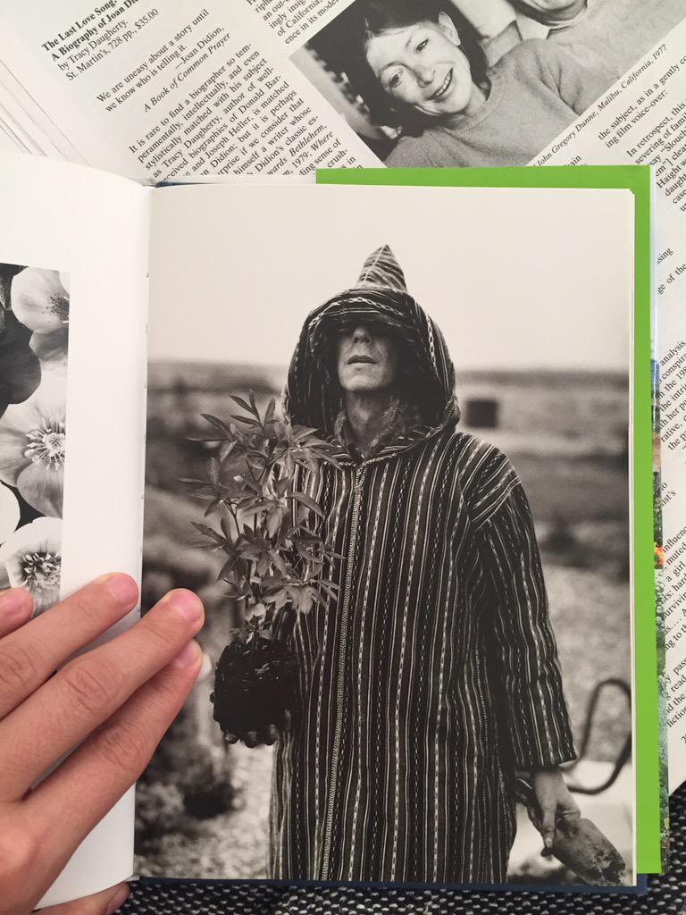 Joan Didion smiling at Derek Jarman and his dug-up hellebore. Why not.