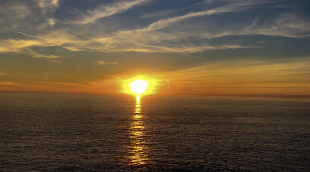 A video still of a Muir Beach sunset
