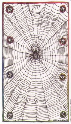The spider card from The Wild Unknown's tarot deck