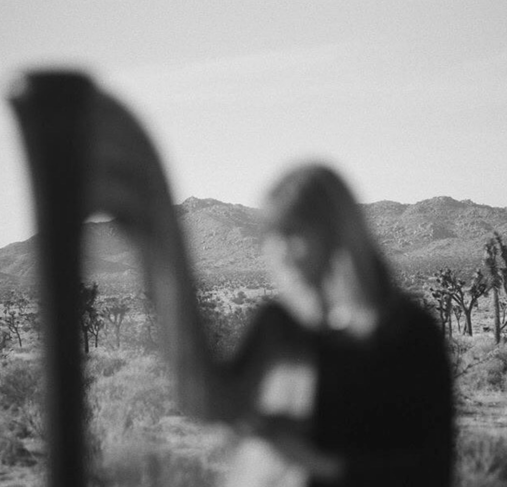Mary + harp, photo by Rachael Pony Cassells