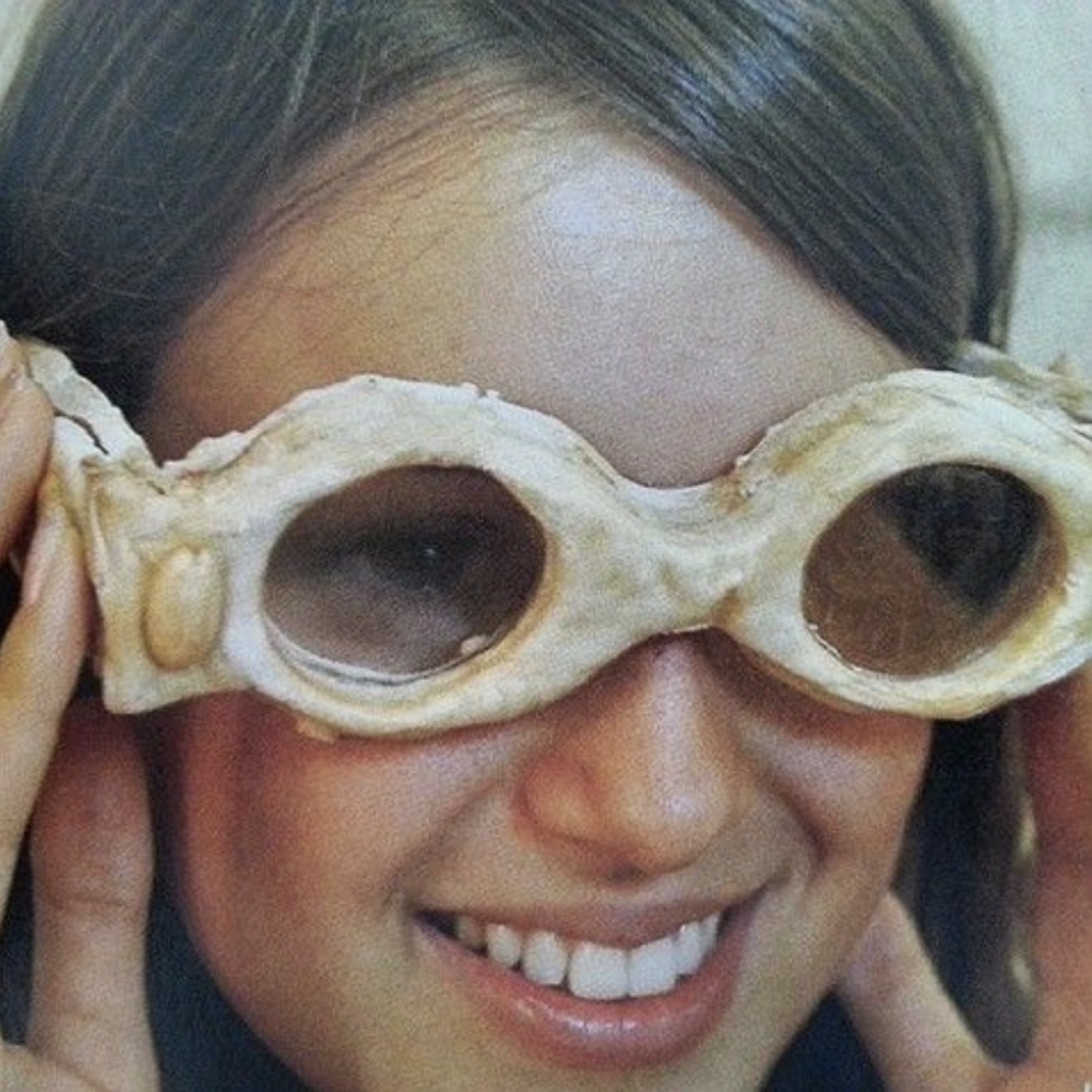 """Glasses made of biscuit dough, from """"Designers from Turkey: Design from East to West"""" industrial design exhibition, 2004."""