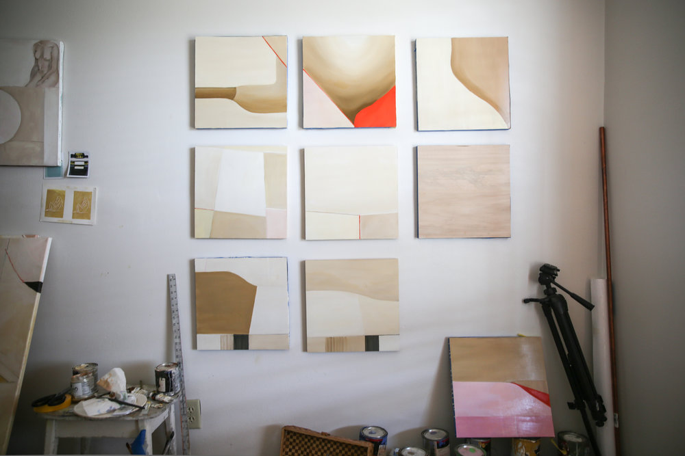New object: a series of nine paintings