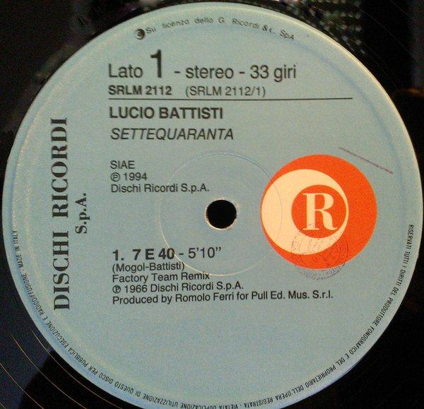Lucio Battisti record,  Settequaranta
