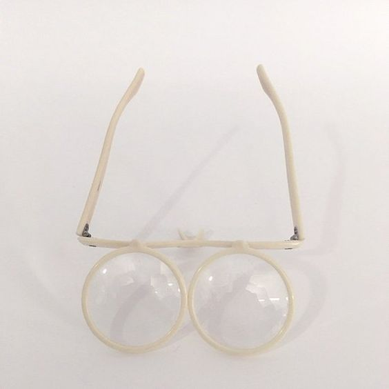Vintage acrylic flip-eye glasses, found on Etsy