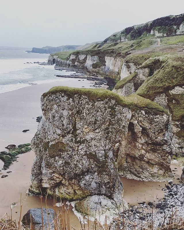 White rocks beach on the north antrim coast #ireland #beach #caves #coast #antrimcoast #rocks #view #scenery