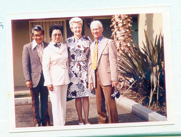 John and Alice Naka, June and Timothy Boyle - 1973
