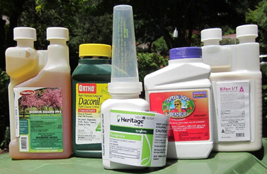 An array of Insecticides and Fungicides