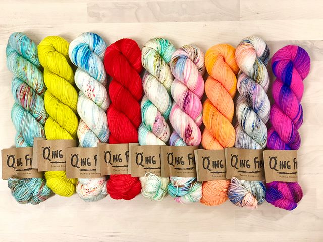Just in! Bright and brilliant @qingfibre The possibilities are endless with this colorful spread! . . . . . . . . . . . . . . . . . . . . #yarn #fiber #wool #fiberart #knit #knitting #knitter #knittersofinstagram #crochet #crocheter #crocheting #crochetersofinstagram #make #makers #makersgonnamake #create #color #colorful #indiedyer #indiedyed #brookline #boston