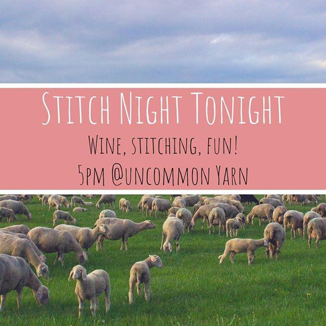 Join us tonight for stitch night! . . . . . . . #yarn #community #stitching #knitting #crochet #knit #make #makers #brookline #boston