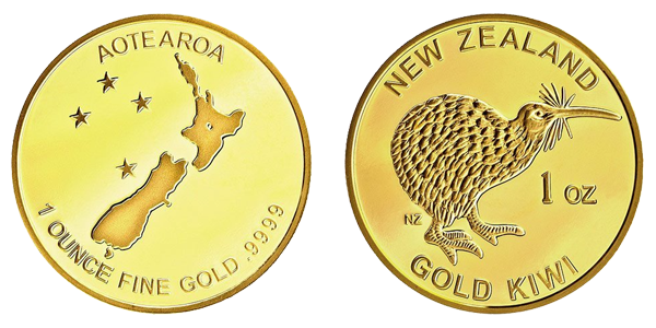New Zealand gold coin