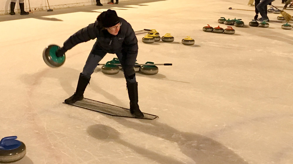 Curling on a cold Central Otago night.