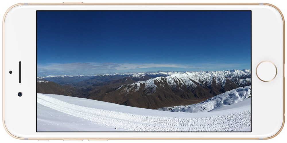 View from Cardrona ski field looking towards Queenstown.