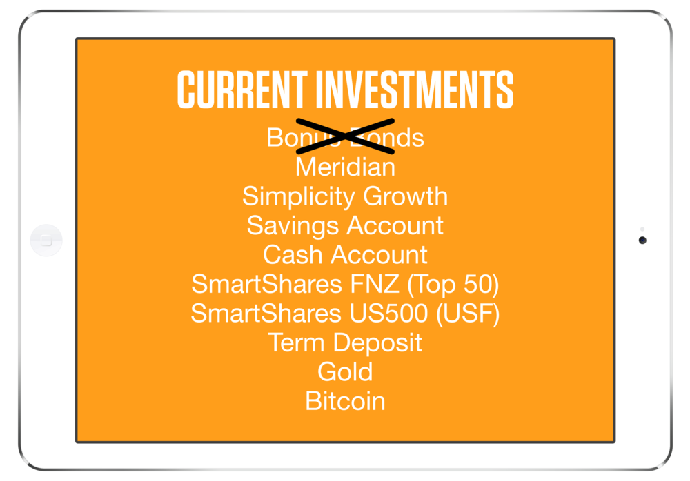 Here is a list of currents investments.