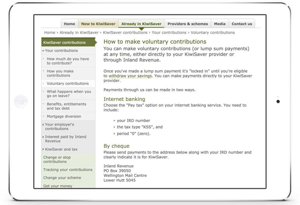How to make voluntary contributions