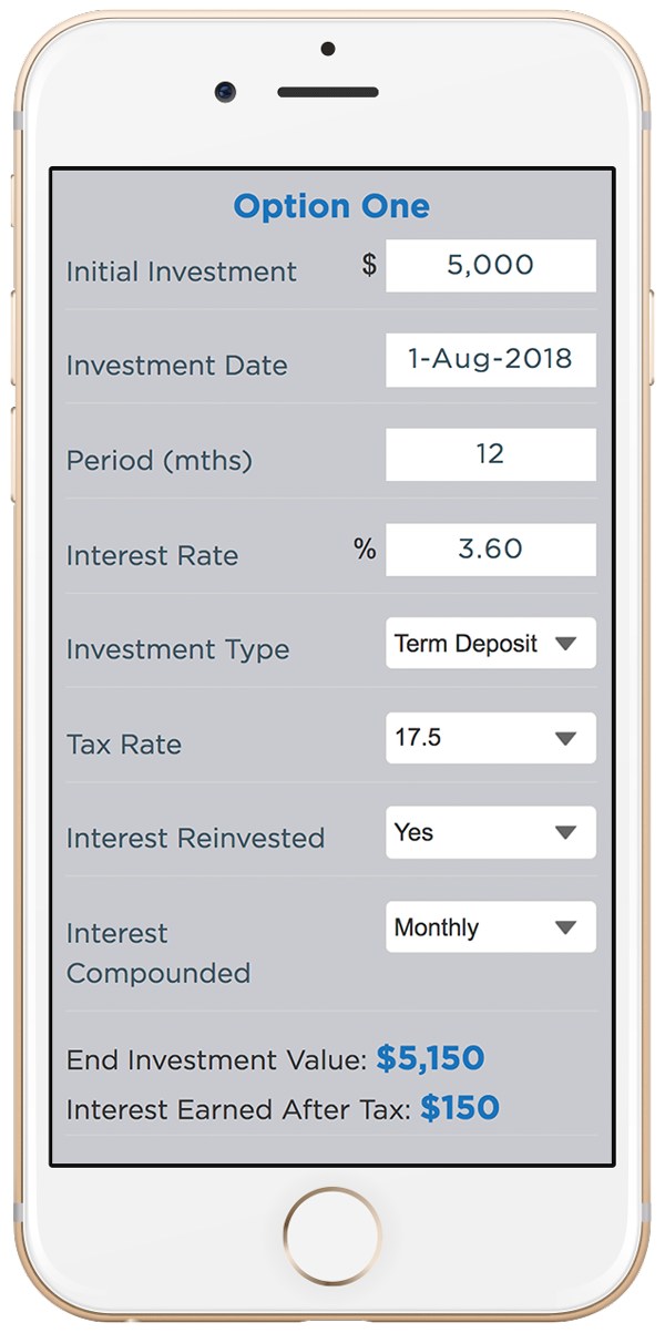 Interest.co.nz Deposit Calculator