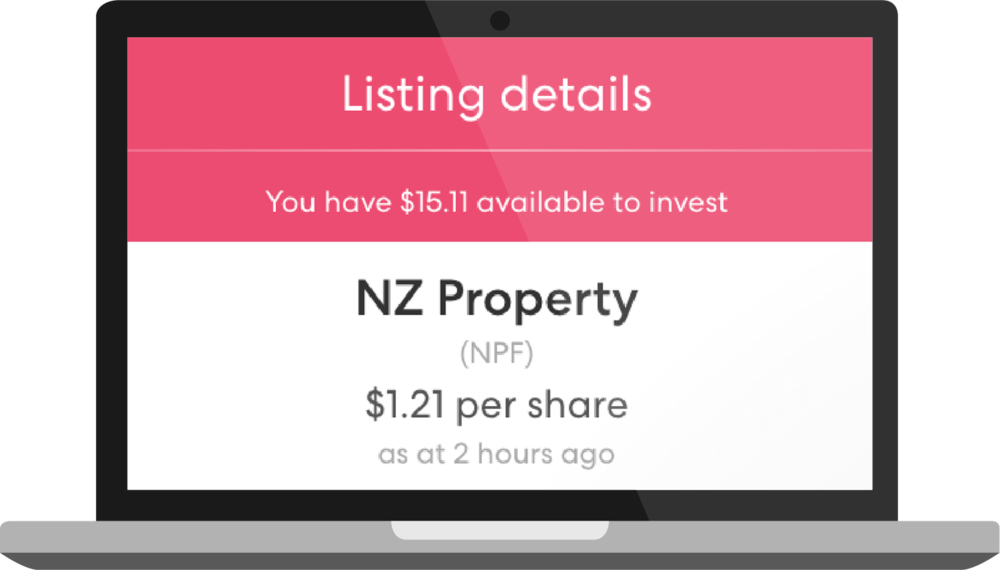 Listing details of the NZ Property Fund