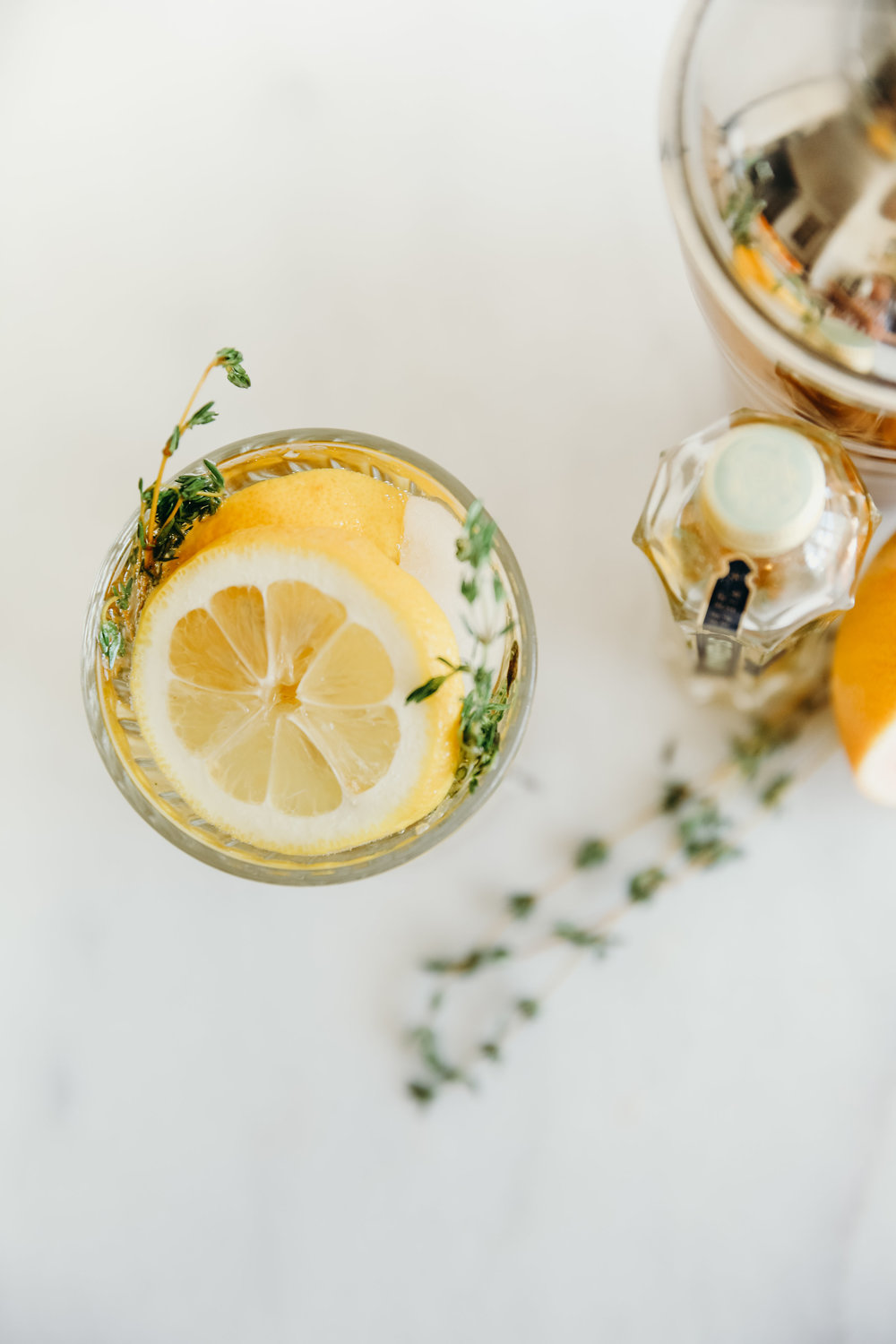 St Germain Cocktail with Lemon | Hillary Jeanne Photography | Food Photography