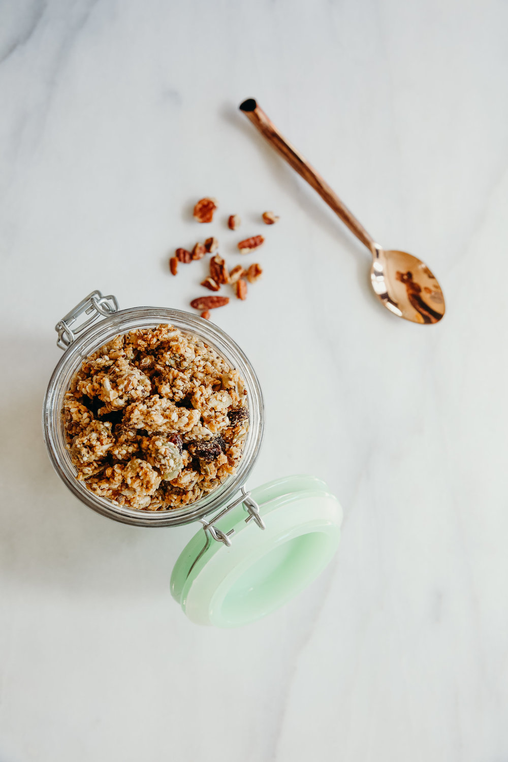Granola with Spoon | Food Photography | Hillary Jeanne Photography