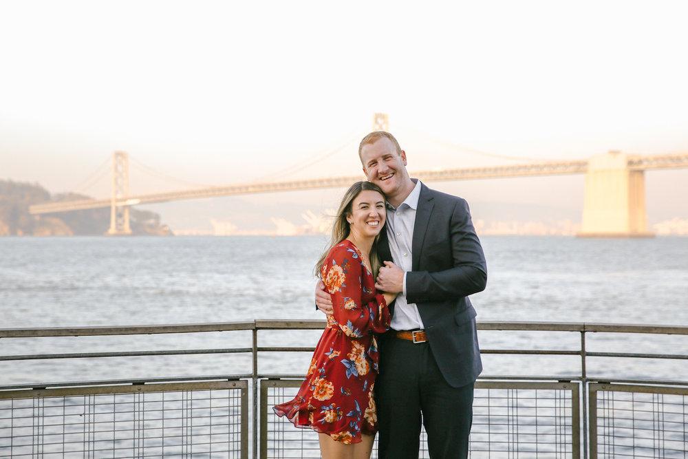 San Francisco Embarcadero + Bay Bridge Engagement Session