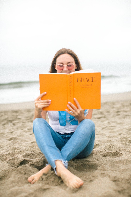 San Francisco Baker Beach Lifestyle Photoshoot. Showcasing colorful scarfs with Bridgette Thornton.