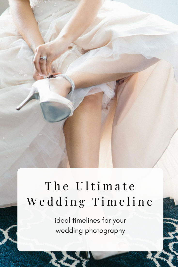 The Ultimate Wedding Timeline: ideal timelines for your wedding photography.