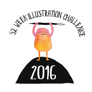 52 week illustration challenge link