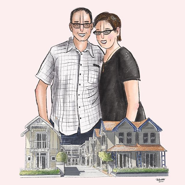 A special portrait commission I completed a few weeks ago. It's been a loong time since I attempted drawing buildings😂